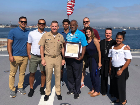 PLI President and CEO Sam Thevanayagam honored at the U.S. Navy Employer Recognition Event