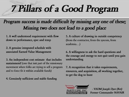 7 Pillars of a Good Program