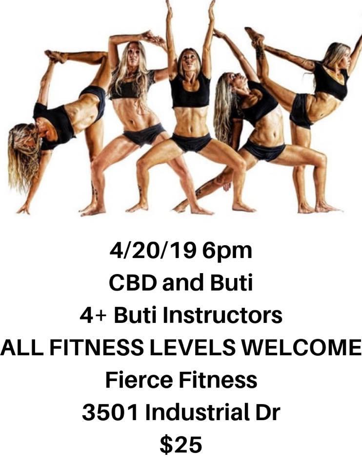 Buti Yoga, 4.20, CBD, Fierce Fitness