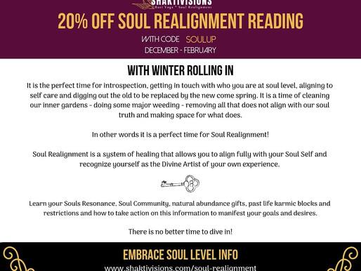 Soul Realignment Reading 20% OFF Dec. '18 - Feb. '19