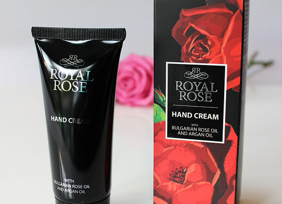 'Royal Rose' hand cream for men, with Bulgarian rose oil and argan oil