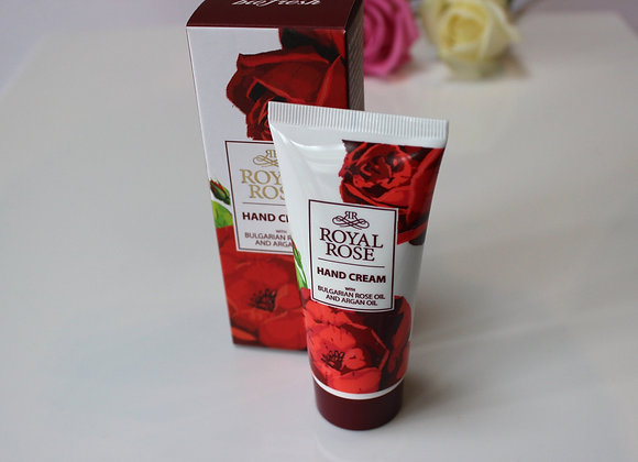 'Royal Rose' Hand Cream with Bulgarian rose oil and argan oil