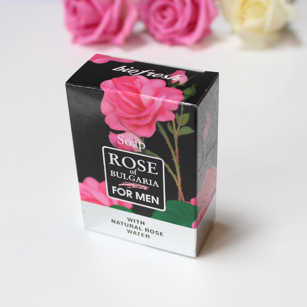 Rose of Bulgaria natural soap for men. 100g