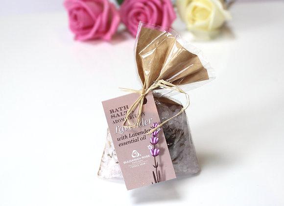 'Bulgarian Rose' lavender spa bath salts