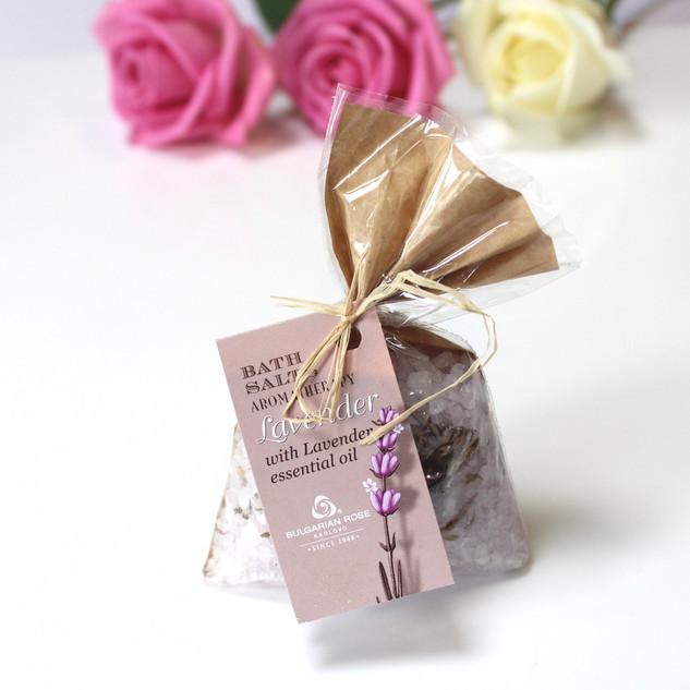 'Bulgarian Rose' lavender spa bath salts.100g