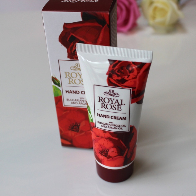 'Royal Rose' Hand Cream with Bulgarian rose oil and argan oil. 50ml