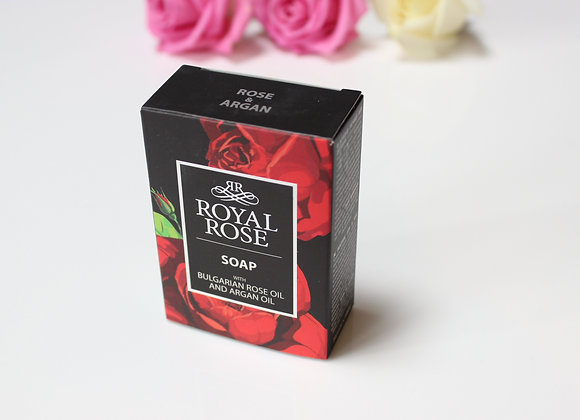 Royal Rose soap for men, made with Bulgarian rose oil and argan oil