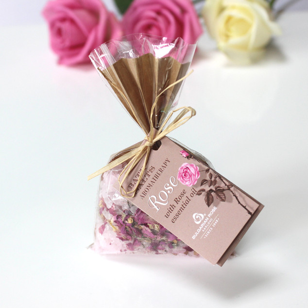 Bulgarian Rose rose spa bath slats .100g