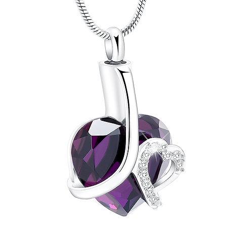 J-564 Glass Heart (Purple, Blue or Teal)