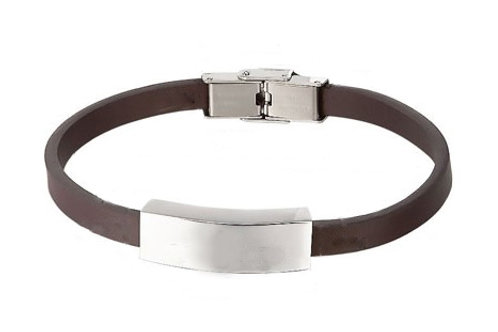 "Brown Leather 7.25"" or 8.5""  Bracelet"