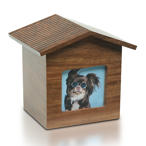 Rosewood Pet Photo Frame Dog House Urn