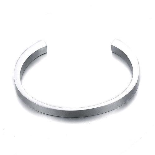 B-02 Bangle Bracelet (Silver)