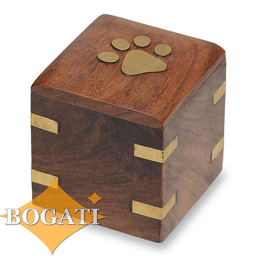 NM-5075-K  Keepsake Urn Brass Paw and Brass Corners