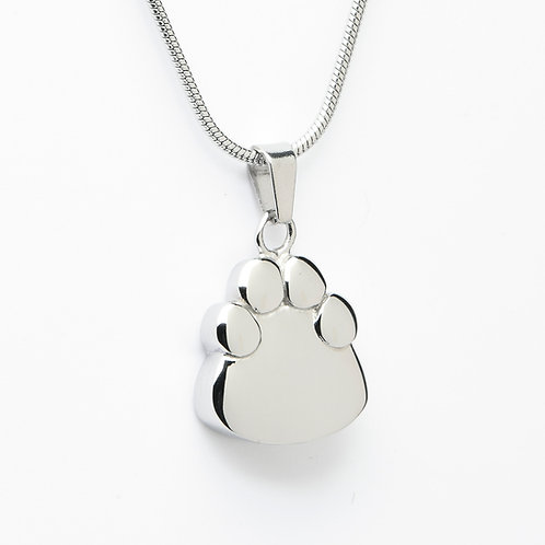 J-2203 Stainless Steel Cremation Urn Pendant with Chain – Paw Print