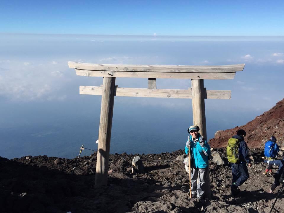 Priscilla, no alto do Monte Fuji: mudança de vida. (foto: acervo pessoal)