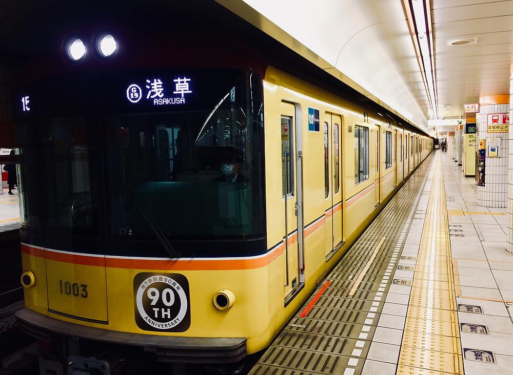 Design inspirado nas antigas composições marca os trens que circulam na linha.
