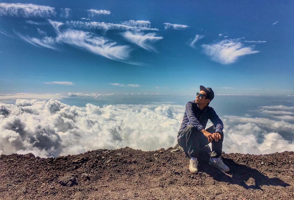 Marcel já subiu o Fuji seis vezes. (foto: acervo pessoal)