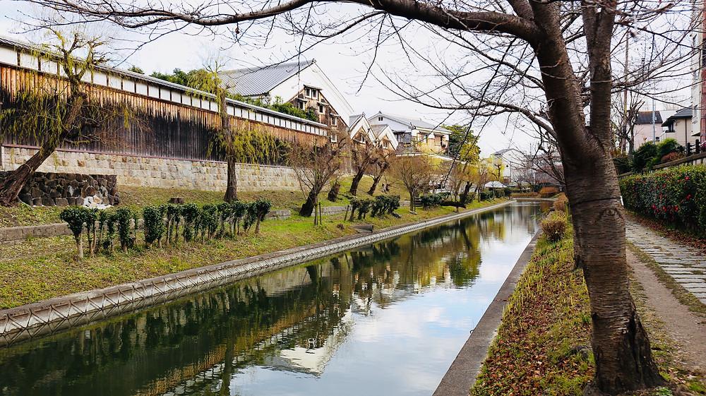Fushimi ainda é uma área de produção de saquê.