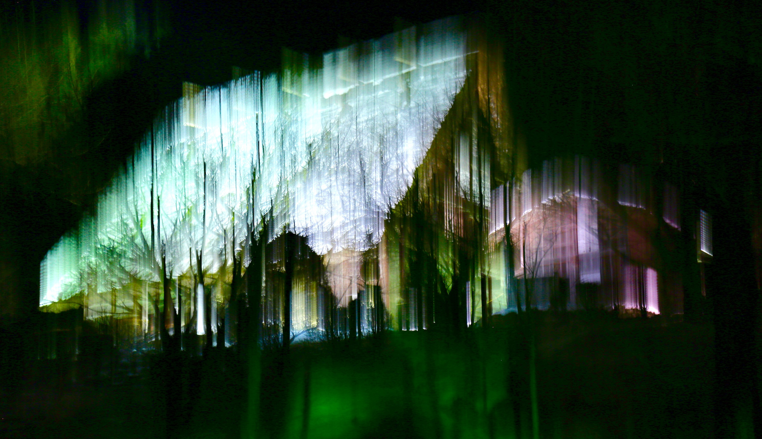 Iluminação noturna no Hida Folk Museum.