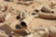 ancient broken pottery