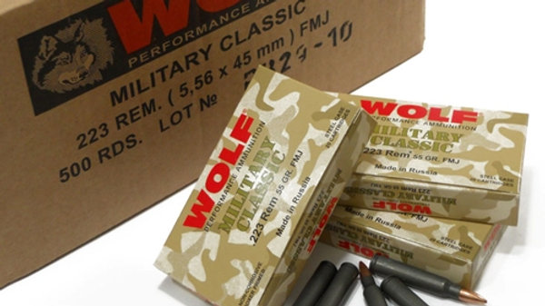 Wolf Military Classic .223 FMJ   case of 1000