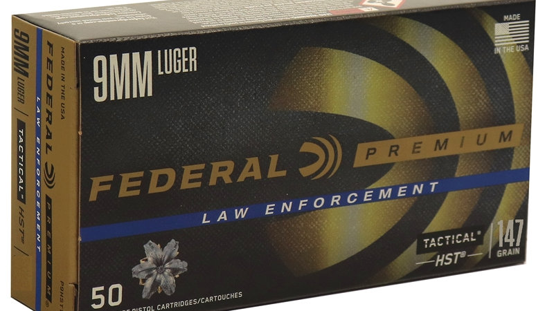 Federal HST Law Enforcement 9mm Luger  147 Grain JHP