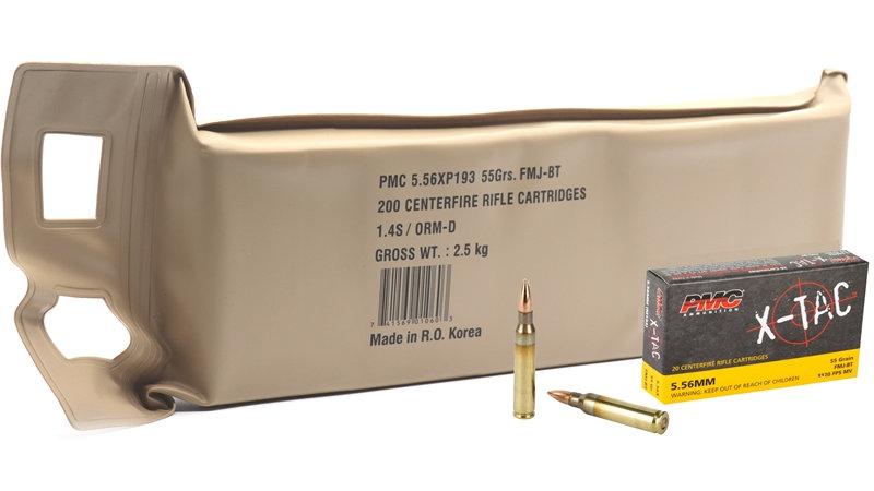PMC X-TAC 5.56  55 GRAIN XM193 FMJBT BATTLE PACK OF 200 - 556XBP