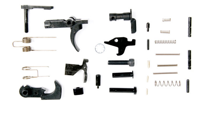AR15 Lower Parts Kit – No Pistol Grip or Trigger Guard