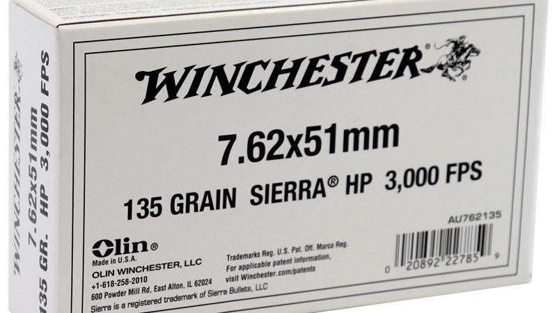 Winchester 7.62x51mm NATO  135 Grain Sierra Hollow Point