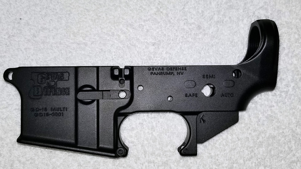 Gevas Defense GD15 Stripped Lower Black