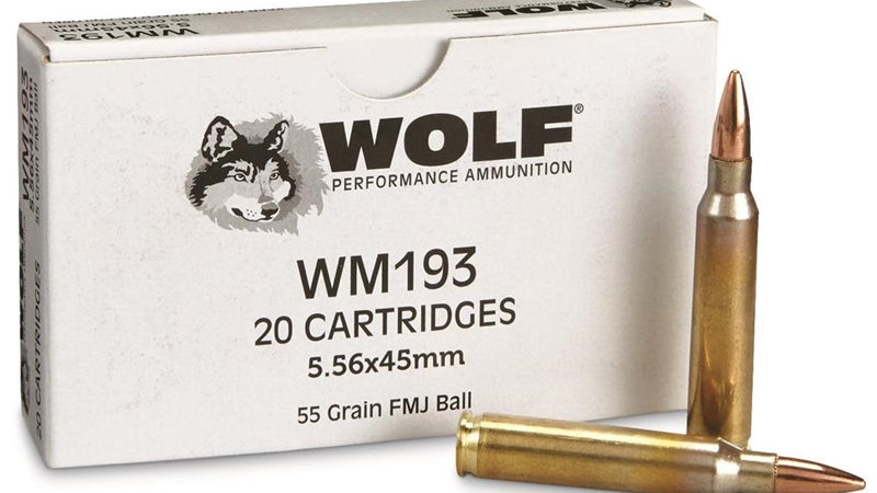 WOLF GOLD 5.56MM NATO M193  55 GN FULL METAL JACKET