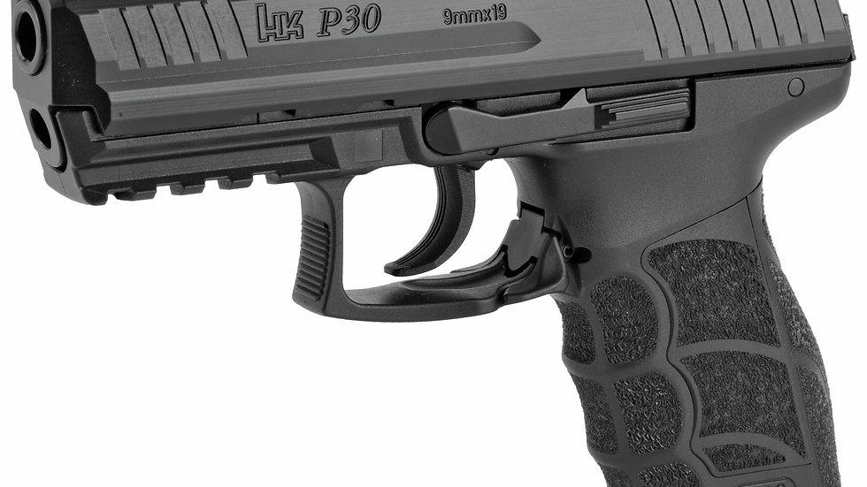 """HK P30 9MM 3.85"""" BLK V3 DA/SA 15RD"""