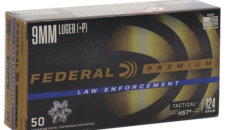 Federal Law Enforcement 9mm Luger 124 Grain +P HST JHP
