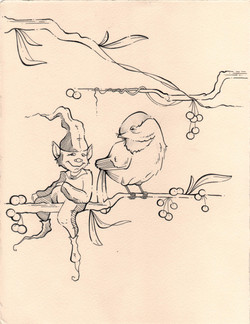 The Elf and the Chickadee