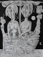 ADAM & EVE Ink drawing