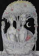 ADAM & EVE (THE JOURNEY) II Ink & watercolour