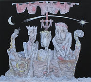 3 UNWISE MEN Ink & watercolour.JP