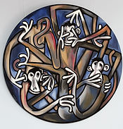 3 WISE MONKEYS Acrylic on canvas