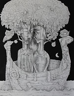 ADAM & EVE (THE JOURNEY) Ink drawing