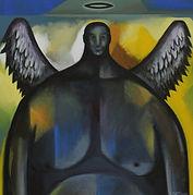 LARGE ANGEL Acrylic on canvas