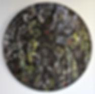 ADAM & EVE (MOONLIGHT FLIT) Acrylic on canvas