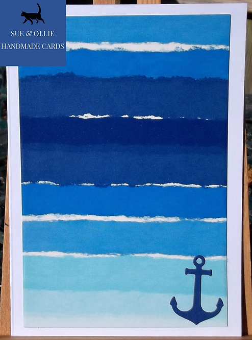 Blue & White Nautical Blank/Note Card Pack