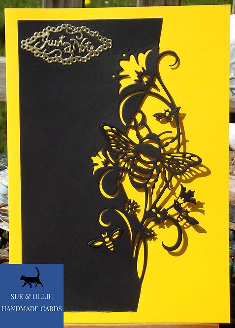 Black & Yellow Bumblebee Blank/Note Card