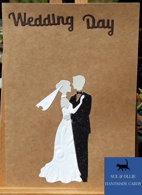 Brown Couples Wedding Card