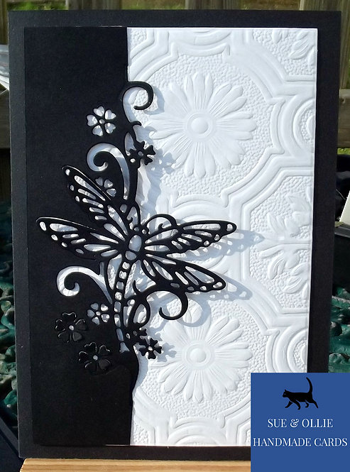 Black & White Dragonfly Blank/Note Card