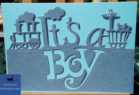 Blue It's a Boy Card