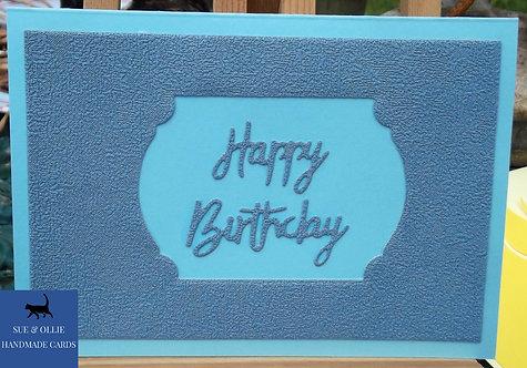 Blue Frame Happy Birthday Card
