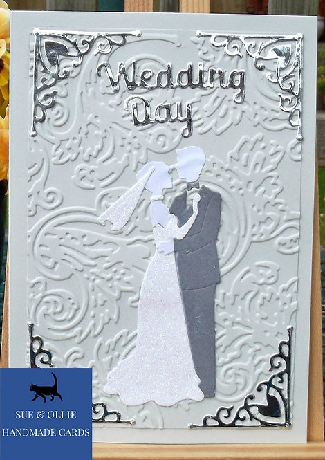 Grey Couples Wedding Day Card