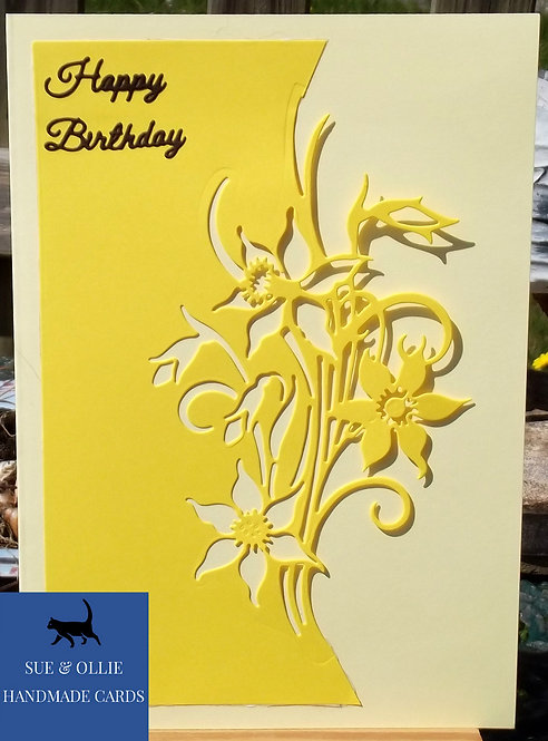 Yellow Daffodils Birthday Card