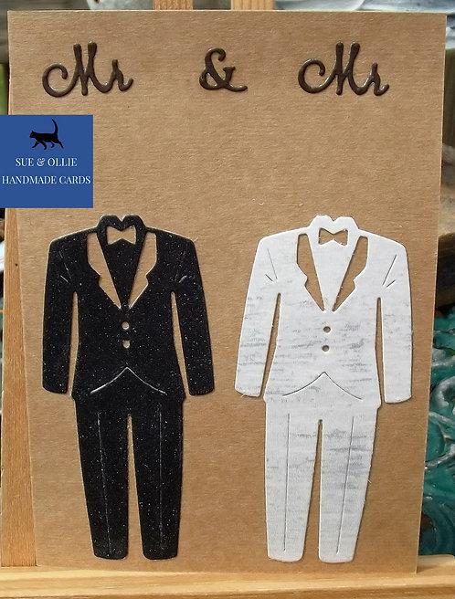 "Brown ""Mr & Mr"" Wedding Card"